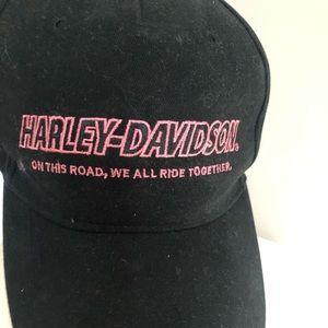 Harley Davidson baseball cap. Black/pink NWOT